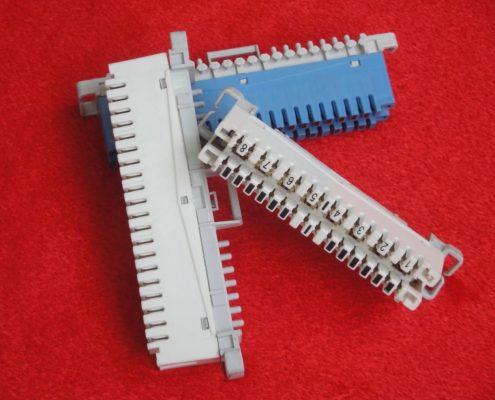 ترمینال 8 و 10 زوجی سفید و 10 زوجی آبی MDF از نوع IDC